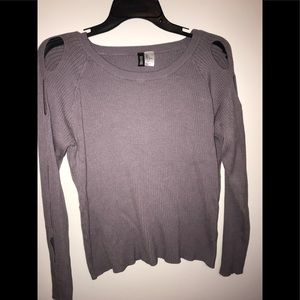 H&M long sleeve with holes